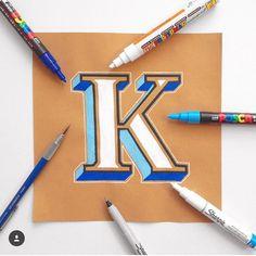colorful 3-D letter