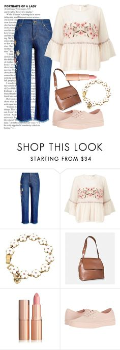 """""""Just a little flower power"""" by jess-r-d ❤ liked on Polyvore featuring Zadig & Voltaire, Miss Selfridge, Betsey Johnson, Avenue, Vans, casual, Flowers, jeans and MyStyle"""