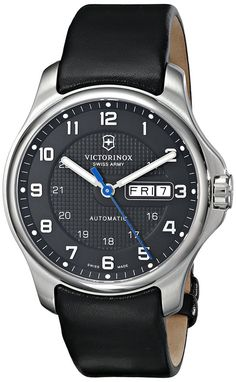 Victorinox Men's 241546 Officers Analog Display Swiss Automatic Black Watch