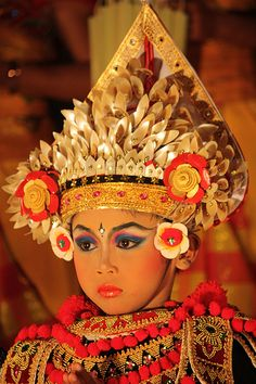 Indonesia is full of so much beauty and artistry.  Ubud,Bali - Baris dancer