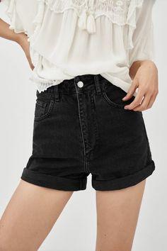 Shorts Outfits Women, Short Outfits, Short Dresses, Denim Pants, Black Denim Shorts, Casual Shorts, Zara Shorts, Shorts With Tights, Julia