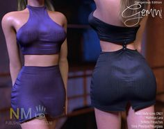 AMD Gemini Dresses Second Life Lucky Letters