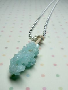 Rock Candy Necklace Miniature Food Jewelry Blue by Kawaii Buddies
