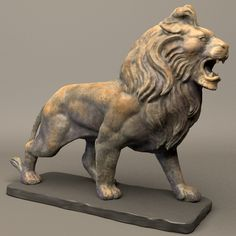 Stone Lion Sculpture Model available on Turbo Squid, the world's leading provider of digital models for visualization, films, television, and games. Sculpture Clay, Bronze Sculpture, Lion Photography, Middle Eastern Art, Lord Ganesha Paintings, Stone Lion, Lion Art, Animal Sculptures, T Rex