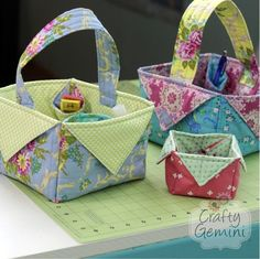 Fabric Basket Tutorial - These are so cute and easy to make!