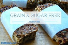 Just throw everything in the blender to make these super simple grain free granola bars. They pack a nutritional punch and are a healthy sugar free snack.