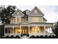 Love the porch and front facade