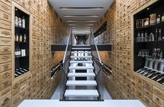 Rotterdam based Studio AAAN have combined architecture and wine in their design for the new wine shop Wijn aan de Kade.