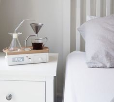 We have a couple of friends that might love this #Coffee Brewing #Alarm #Clock by @Barisieur. Beautiful #design and amazing technology! _