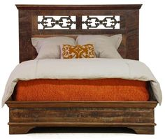 Reclaimed wood bed for the rustic chic home