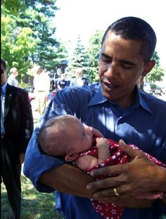 POTUS and baby. I would trust him with mine.