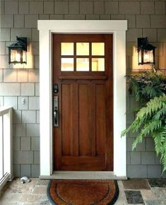 We will be looking into exterior door design ideas, after all, they're the welcoming point to your home. Get going and check the exterior door design that. Entrance Design, Front Door Design, Front Door Colors, Entrance Ideas, Exterior Paint Colors, Exterior House Colors, Exterior Design, Diy Exterior, Modern Exterior