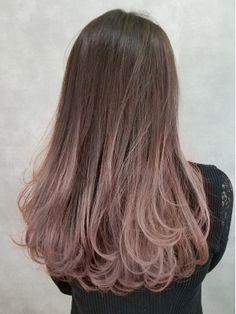 Korean Hair Color Ombre, Kpop Hair Color, Hair Color Purple, Hair Dye Colors, Korean Hair Dye, Brown Hair Korean, Lip Colors, Hair Streaks, Hair Highlights