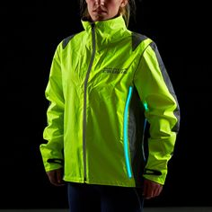 The Proviz high visibility cycling jacket is designed to draw attention to your position on the road during times of poor light or the hours of darkness. The jacket incorporates four (30cm each) unique electroluminescent lighting strips that glow in an eye-catching electric blue colour to ensure you're highly visible when it really matters.    £75.00