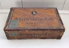 Vintage S. Seidenberger & Co. After Dinner De Luxe 5 Cents Cigar Box, Cigar Box, Vintage Cigar Box, Rustic Decor,DeLuxe Cigar Box,Tobacciana by Lalecreations on Etsy
