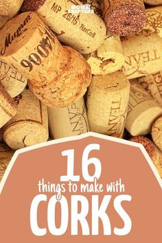 A list of the best DIY wine cork crafts I've seen to upcycle and repurpose all of those corks I have lying around! Great craft ideas - I need to get to recycling my corks more. |Hacks | DIY ideas | cool hacks |original hacks