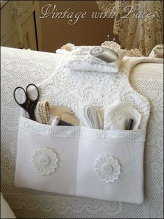 Vintage with Laces: A Couch Caddy #DIY-Crafts