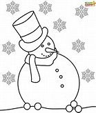 Image result for Snowman coloring pages