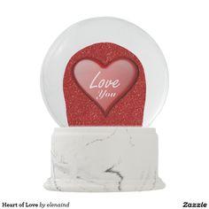 Heart of Love Snow Globes by Elenaind #Zazzle