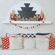 "Jen | the dotted bow on Instagram: ""I call it my Winter Valentine Village ❤️ 🌲 Because it's still January but I love Valentines Day."" Mantles, Love Valentines, January, Kids Rugs, Bows, Winter, Instagram, Home Decor, Arches"