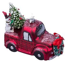RAZ Imports Christmas Car and Truck Glass Ornaments - Set of 2. #Christmas #NewYear #Ornament #Decor #giftidea #Gift #gosstudio .★ We recommend Gift Shop: http://www.zazzle.com/vintagestylestudio ★