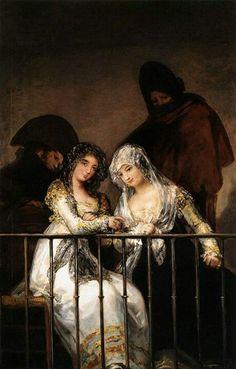 Francisco de Goya   Majas en el balcón
