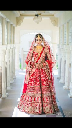 Sabyasachi…the very mention of the name conjures up images of beautiful Indian brides in drop-dead gorgeous lehengas, looking nothing less … Designer Bridal Lehenga, Indian Bridal Lehenga, Indian Bridal Outfits, Indian Bridal Wear, Indian Designer Outfits, Indian Dresses, Bridal Dresses, Indian Wear, Lehenga Wedding