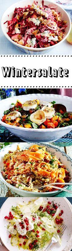 #Salat im #Winter? Aber sicher! Unsere #Wintersalate punkten mit saisonalen Zutaten, die uns in den kalten Monaten mit reichlich Vitaminen versorgen. Gleich loslegen und alle #Rezepte einmal ausprobieren.