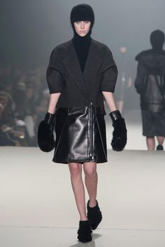 Great coat.  But I can't even with those gloves.  Alexander Wang Fall 2013 RTW Collection - Fashion on TheCut