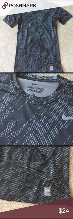 Men's Nike Pro Combat Compression Shirt Worn once.  Dri Fit. 90% polyester 10% spandex Nike Shirts Tees - Short Sleeve