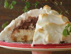 ΓΛΥΚΟ ΨΥΓΕΙΟΥ ΜΕ ΜΠΙΣΚΟΤΟ ΚΑΙ ΠΡΑΛΙΝΑ - paxxi Chocolate Souffle, Baked Alaska, Pavlova, Feta, Cheesecake, Pie, Pudding, Baking, Desserts