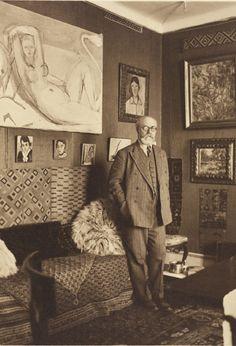 Portrait of Henri Matisse by Albert Eugene Gallatin, 1932, taken in Nice, France.