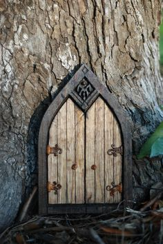 fairy door- My granddaughter will lose her mind over this!  I think I'll put it out back and let her find it.