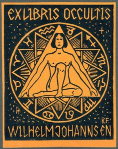 Ceremonial Magick:  #Ceremonial #Magick ~ Exlibris Occultis - Wilhelm Johannsen by Karl Frech, 1920.