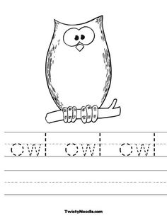 printable owl worksheets @Ruth Thompson color sheet for party?