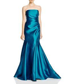 Badgley Mischka Mikado Strapless Gown | Bloomingdale's