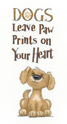 Paw Prints - Peter Underhill Cross Stitch - Heritage Crafts