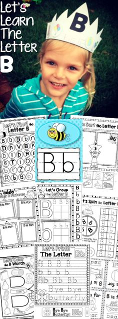 Let's Learn The Letter B: A packet full of fun for learning all about the letter B sound. Letter B crown and bracelets included in the pack.$
