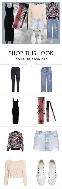 """""""Crazy Polyvore Outfit Challenge"""" by anayaforever26 ❤ liked on Polyvore featuring Jaeger, Enza Costa, Kylie Cosmetics, Topshop, Coast and Converse"""