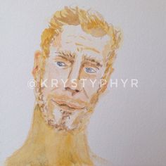 Five minutes into this sketch I felt this could be a man or a lion as you may see I didn't make a decision on that. . . . . #lion #lionking #lionman #man #sketch #sketchbook #watercolor #krystyphyr #blonde #blondehair #blueeyes #artoftheday