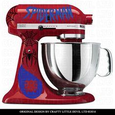 Spider-Man Mixer Decal Set by CraftyLittleDevilLTD on Etsy