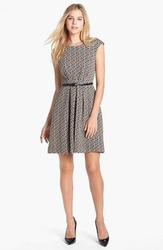 Maggie London Jacquard Fit And Flare Dress Size 12 Retail $118