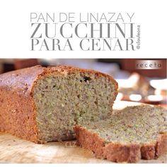 Pan de calabacín y linaza