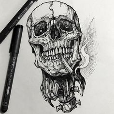 Tattoo sketches 773141461017436964 - Source by bastianzobel Tattoo Design Drawings, Skull Tattoo Design, Skull Tattoos, Body Art Tattoos, Sleeve Tattoos, Cool Tattoos, Tattoo Designs, Dark Art Drawings, Art Drawings Sketches