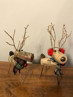 Wine Cork Reindeer by WillowDezigns on Etsy