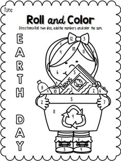 earth day recycling coloring pages Occupation Pinterest