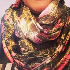 Polly camo pink infinity scarf! I love this scarf I have made one for my little girl also