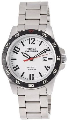 Men's Wrist Watches - Timex T49924 Expedition WR 50M Quartz Indiglo Stainless Steel Sport Mens Watch -- You can find out more details at the link of the image.