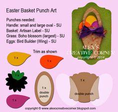 Alex's Creative Corner: Easter Basket Punch Art