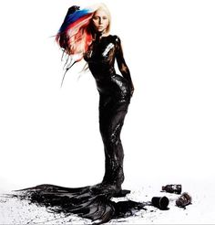 Lady Gaga campaign against oil pollution.